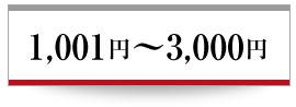 1,001円〜3,000円